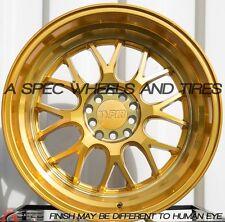 F1R F21 18X10.5 +20 5X114.3 GOLD RIM FIT 350Z 370Z G35 G37 S 300ZX AGGRESSIVE
