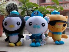 NEW Octonauts Plush Toy Captain Barnacles Kwazii Peso Fisher Price Lot of 3 Gift