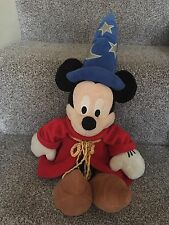 "Disney Mickey Mouse Plush Fantasia Sorcerer Apprentice Soft Toy 17"" Disney Store"
