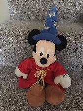 "Disney Mickey Mouse Plush Fantasia Sorcerer Apprentice Soft Toy 17"" Disney Store"