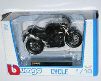 Burago - TRIUMPH SPEED TRIPLE (Black) Motorcycle Model Scale 1:18