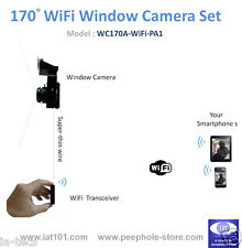 170° Angle Mini WiFi Window Camera for iPhone Android Smartphone Remote Viewing