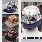 Fashion Men's Women's Floral Snapback bboy Adjustable Baseball Cap Hip Hop Hat