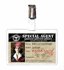 Agent Peggy Carter Red Hat Marvel ID Badge Card Cosplay Prop Costume Comic Con