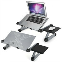 Adjustable Laptop Computer 360°Stand Table Portable Notebook Desk Bed Tray Black