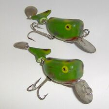 """New listing (2) Vintage """"Joint Hi-Tail"""" Lures in Frog Spot >> Made in Japan >> L@K!"""