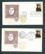 Us Stamps Fdc /Martin Luther #2065 / 2 - Wittenberg Univ. Springfield Stamp Soc.
