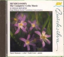 Mark Shuman And Todd Crow(CD Album)Mendelssohn: Cello Music-New