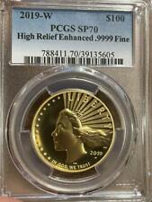2019 W $100 High Relief Gold Liberty PCGS SP 70