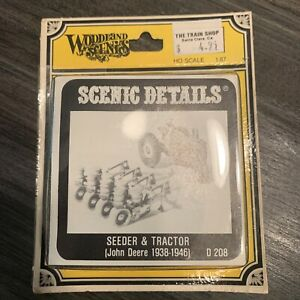 Woodland Scenic Seeder & Tractor John Deere 1938-1946 Model Kit