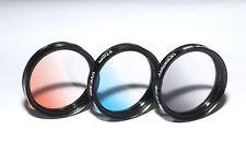 Unomat UVF329 Verlauffilter Rot / Blau / Grau Filterset 37mm (NEU/OVP)