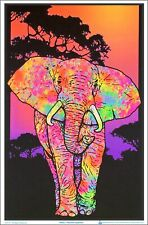 Painted Elephant Blacklight Poster 23 x 35