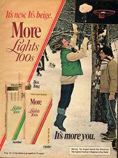 1981 Vintage ad for More Lights 100s Cigarettes/Snow/Baseket Ball (041613)