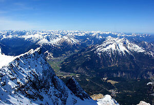 13x19 Photo of the Wetterstein Mountains as Seen from the Zugspitze-Germany