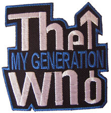 New The Who Rock Band Logo embroidered iron on patch. 3 x 3 inch (i123)