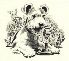 Wire Fox Terrier - Morgan Dennis Dog Print - Matted