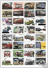 VOLKSWAGEN TRANSPORTER TYPE 2 - Camper Van Kombi Microbus Pickup Retro Art Print