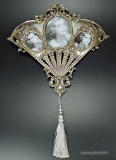 Barock Bilderrahmen Fotorahmen zum Hängen Oval silber Rokoko Stil Design Antik