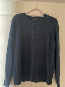 Sussan New With Tags Size Medium Henley Style Knit Top Blue Current Season