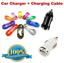 In-Car USB Car Charger + Charging Cable For iPhone Samsung UK