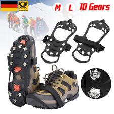 Anti Rutsch Schuh Spikes Schuhspikes Eiskrallen Ice Grips für Winter Sports M/L