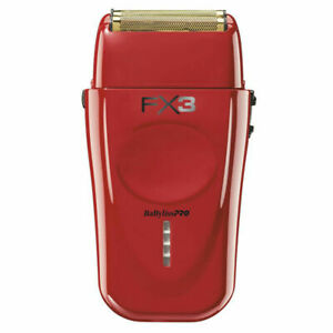 BaByliss PRO FXX3S FX3 Collection Red High-Speed Off-Set Double Foil Shaver NEW