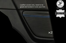 BLUE STITCH 2X REAR SIDE PANEL TRIM LEATHER COVERS FOR MAZDA RX8 03-12 STYLE 2