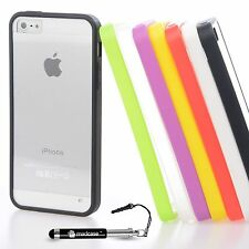 Plain Silicone/Gel/Rubber Mobile Phone Bumpers for Apple