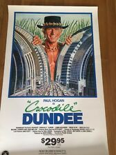 "Vintage Crocodile Dundee Poster  1986 23""X 37"" Pop Art"