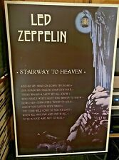 Vtg Led Zeppelin Stairway to Heaven Vintage 24 in. X 36 Mounted Wood/ Plywood