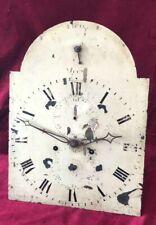 Good English 8 Day Grandfather Clock Movement & Dial