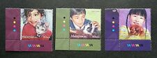 Children Pets Malaysia 2011 Animal Cat Dog Rabbit (stamp with color code) MNH