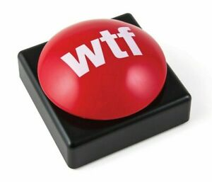 W-H-A-T   T-H-E   F-#-%-K   office desk huge talking stress push button toy