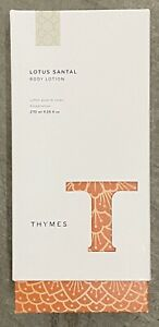 Thymes Lotus Santal Body Lotion New 12.25 Oz