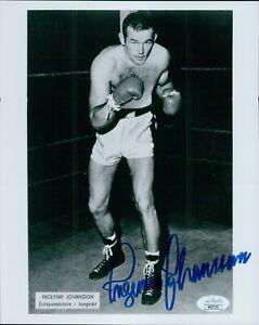 Ingemar Johansson Boxer Signed 8x10 Glossy Photo JSA Authenticated
