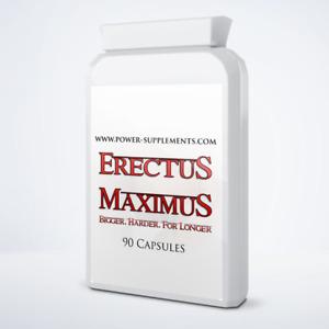 ERECTUS MAXIMUS PENIS ENLARGEMENT PILLS - 6 MONTH SUPPLY (180 PILLS)