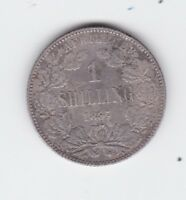 1897 South Africa 1 Shilling Silver Coin S-502