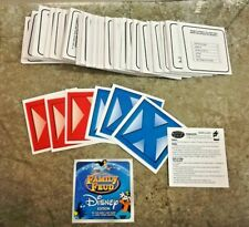 Family Fued Disney Edition Board Game Replacement Parts Pieces Cards Strikes