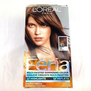 """Loreal Feria Shimmering Hair Colour #45 DEEP BRONZED BROWN """"French Roast"""""""