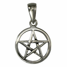 Pentagram Tiny Sterling Silver Pentacle Pendant Wiccan Pagan Witch Jewelry
