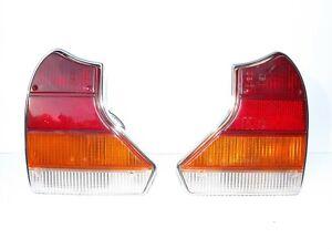1980-1987 Jaguar seriesIII XJ12 XJ6 taillights L&R pair lenses & chrome housings