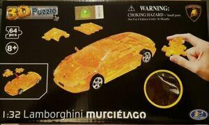 1:32 Official Lamborghini Murciélago Transparent Yellow 64pcs Fun 3D Puzzle Car