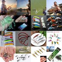 Assorted Random Fishing Lures Hooks Minnow Crank Baits Tackle Bass Minnow YK