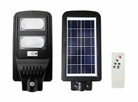 Faro led 60W con pannello solare, sensore crepuscolare e telecomando