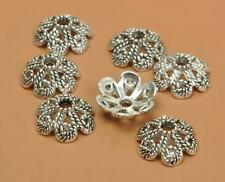 100pcs  tibetan silver charms flower Bead Caps beads cap 10mm