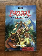 Brutal Paws of Fury SNES Super Nintendo Instruction Manual Only