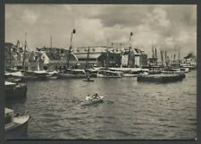 Punda Willemstad Curacao: c.1950 Real Photo Postcard DE RUYTERKADE and Port