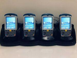 4 x Motorola Symbol MC55A0-HC Barcode 2D Scanner Mobile Computer MC55A + Cradle