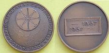 MEDAGLIA GETTONE TOKEN - 1867-->1967 CENTENARIO SOCIETA' GEOGRAFICA ITALIANA