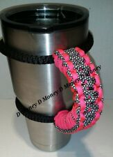 Paracord Handle for 40oz, 30oz, or 20ozYeti Ozark & Aritic Neon Pink Diamonds